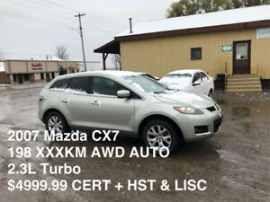 2007 Mazda CX7 AWD 2.3L 4CYL LOADED ONLY $4999.99** DONT MISS