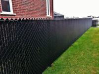 frost fence installation/ Instalation de cloture