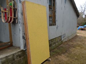 One free wall panel/shed door, insulated