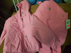 PINK CARHART OVERALLS  FOR 2-4 YEAR OLD GIRL