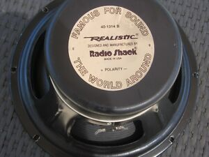 "REALISTIC 12"" 85 Watt Guitar Amplifier Speaker vintage 1970's"