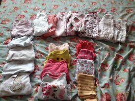 3-6 months girls sleepsuit/vest bundle
