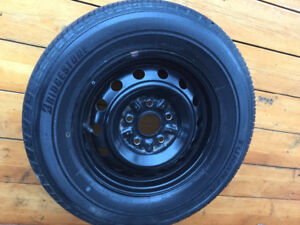 New 195-70-14 summer tire, with rim 5x114