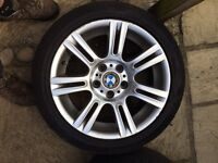 4 BMW m sport alloys with tyres £300