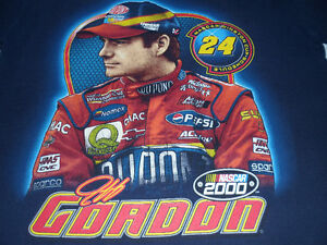 JEFF GORDON NASCAR WINSTON CUP 2000 SCHEDULE T-SHIRT