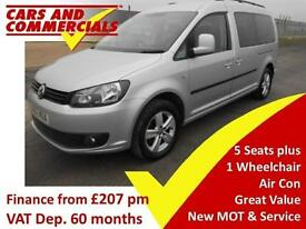 2012 VOLKSWAGEN CADDY MAXI C20 LIFE TDI 102ps WHEELCHAIR ACCESSIBLE
