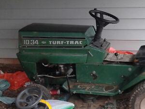 None working lawn tractor