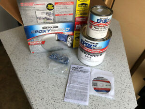 Rust-oleum epoxy shield (epoxy floor)