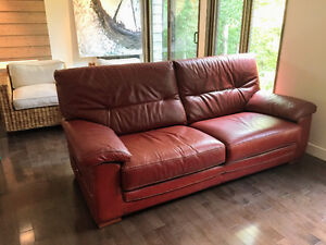 Canapé condo en cuir de buffle