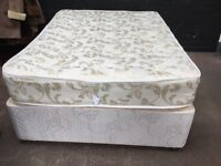 Beautiful clean double devan 4drawer bed with mattress.