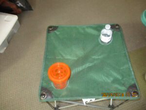 Camping folding beverage table
