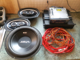 Complete car stereo system