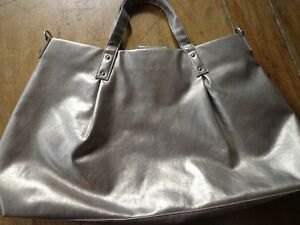 Muted metallic gold-silver bag