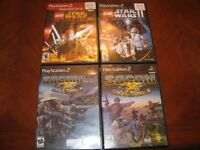 4 PS2 VIDEO GAMES