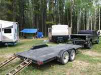 16ft Tandem Flatbed Trailer