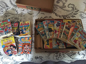 Vintage and New Archie comic books