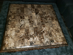 Antique coffee table with solid wood and origional marble  top