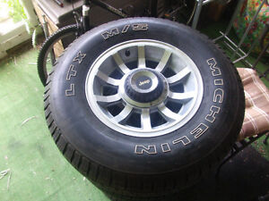 Jeep YJ rims and Michelin package Stratford Kitchener Area image 2