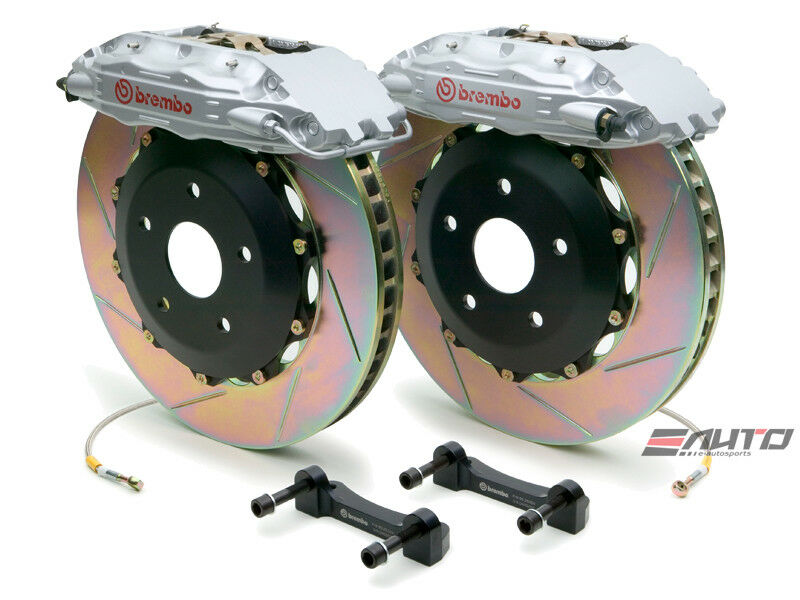 Brembo Front Gt Bbk Big Brake 4pot Caliper Black 355x32 Slot Disc Supra 93-98
