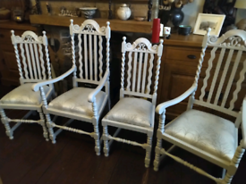Dining chairs - reduced to sell.
