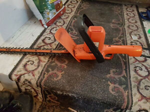 Used working Black and Decker Electric Hedge Trimmer