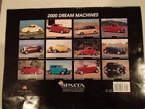 2000 DREAM MACHINES Car 16 Month CALENDAR. Issued by HUCK Fasten Sarnia Sarnia Area image 10