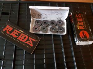 13 red bones skateboard bearings