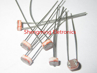 20pcs Photo Light Sensitive Resistor Photoresistor Optoresistor 5mm Gl5549 5549