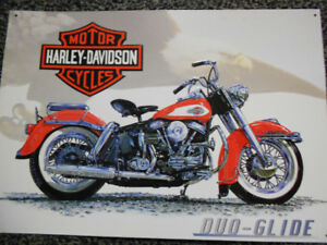 VINTAGE Harley-Davidson Motorcycle 1997 DUO-GLIDE  Metal Sign
