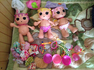 3 Lalaloopsy Baby Diaper Surprise Dolls