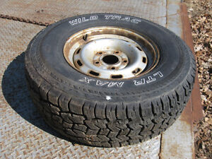 265/75/R16 all terrain tires on Dodge pickup rims, like new