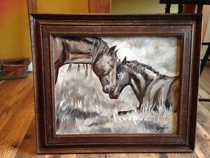 Original Oil Painting Horses