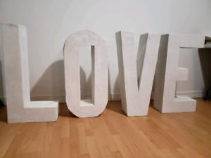 Handmade Décoration mariage lettre LOVE