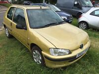 Peugeot 106 2003 3 door super economical car drives well 1 year MOT
