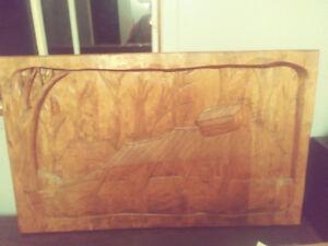 Cadre en bois sculpter