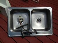 kitchen Sink, Faucet & Range Hood.