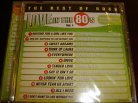 LOVE IN THE 80'S THE BEST OF ROCK BRAND NEW FACTORY WRAPPED CD