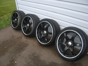 4 205/40/zr/17 ikon poison rims and tires