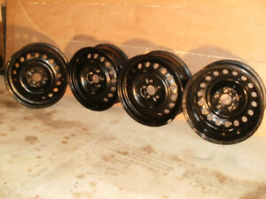 "17"" Steel Rims (#17x61/2J) 5 lugs  x 4.5"" Bolt Circle"