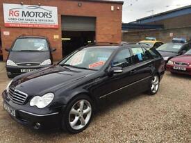 2005(55) Mercedes-Benz C220 CDI 2.1TD Avantgarde SE Black, **ANY PX WELCOME**