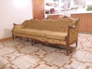 VINTAGE RETRO gold couch + sofa 1960s