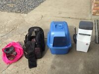 Cat carrier and accessories