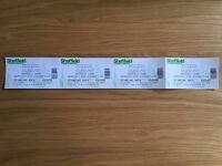 Justin Bieber Standing tickets (x4) SHEFFIELD ARENA Wednesday 26/10