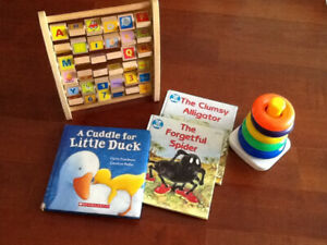 A Box-full of toys, Books, SAFETY LOCKS –