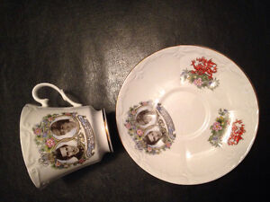 PRINCESS DIANE &PRINCE of WALES Marriage Saucer and Teacup