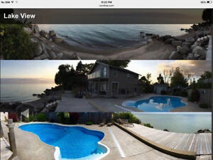 GORGEOUS... Waterfront Lake Erie home wi Pool/Beach/Spa and more