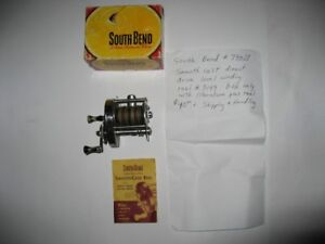 14. Antique South Bend #790S smoothcast reel box with reel