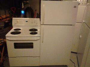 Westinghouse fridge AND Whirlpool stove