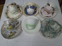 Exquisite bone china teacups and saucers