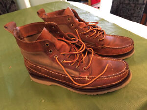 Red wing shoe leather boots